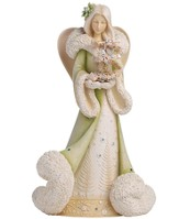 Deluxe Angel with Tree Figurine