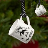 Teacher Mini Mug Ornament
