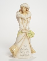 Christmas Wishes From the Heart Figurine, Flowers