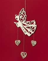 Angel with Dangling Hearts Ornament