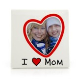 I Heart Mom Photo Frame