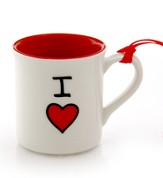 I Heart Mini Mug Ornament
