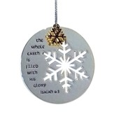 The Whole Earth Is Filled With His Glory, Silver-Plated Ornament, Snowflake