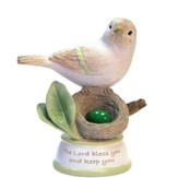 Birthstone Bird Figure, The Lord Bless and Keep You, May