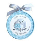 Little Miracle, Big Blessing Wall Plaque, Blue