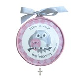 Little Miracle, Big Blessing Crib Medallion, Pink