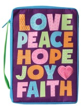 Bible Cover, Love, Peace, Hope, Joy