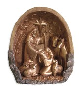 Rock of Ages Nativity, Gold Finish