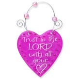 Trust In the Lord, Heart Suncatcher