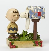 Peanuts Figurine, Charlie Brown At The Mailbox