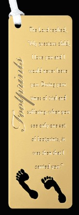 Footprints Etched Bookmark