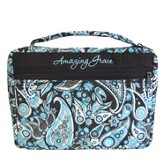 Amazing Grace Bible Cover, Blue Paisley, X-Large
