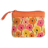 Faith Coin Purse, Orange and Pink