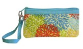 Joy Wristlet, Orange and Blue