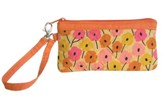 Faith Wristlet, Orange and Pink