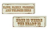 Home is Where the Heart is, Welcome Here Reversible Plaque