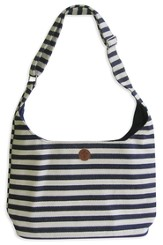 Tote, Cross, Navy Stripe