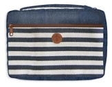 Bible Cover, Cross & Navy Stripe, XL