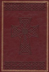 KJV Large Print Compact Cross Design Bible, Burgundy