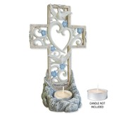 Bereavement Standing Cross Tea Light Holder