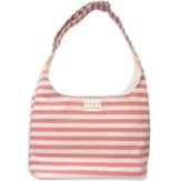 Tote Hope Pink & Natural Stripe / Inside Scripture