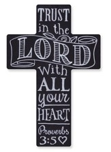 Wall Cross, Chalkboard, Trust in the Lord
