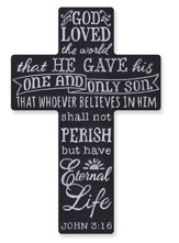 Wall Cross, Chalkboard, John 3:16