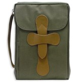 Rugged Cross Bible Cover, Large