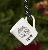 Home, Mini Mug Ornament by Marci