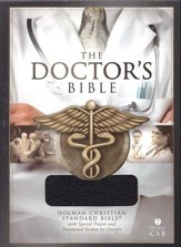 HCSB Doctor's Bible, Black Bonded Leather - Imperfectly Imprinted Bibles