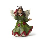 Red and Green Christmas Angel