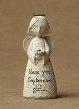 September, Bless You!(tm) Angel Figurine