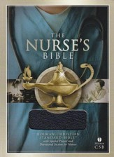 HCSB Nurse's Bible, Blue Bonded Leather - Imperfectly Imprinted Bibles