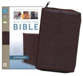 NIV Thinline, Bonded Leather, Zippered Collection Bible, Burgundy
