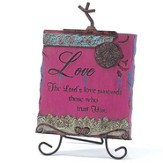 The Lord's Love Plaque with Easel