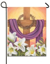 Draped Cross, Small Easter Flag