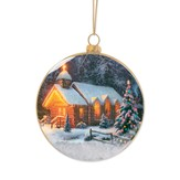 Christmas Chapel I Snow Ornament