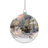 Christmas Sleigh Ride Snow Ornament