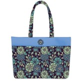 Faith and Grace Blue Floral Tote Bag