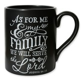 As For Me And My House, Chalkboard Style Mug