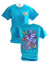 Girly Grace New Creation Shirt, Teal, Large