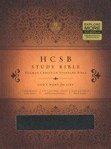HCSB Study Bible, Black Bonded Leather, Thumb-Indexed