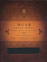 HCSB Study Bible, Black Bonded Leather - Slightly Imperfect