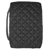 Black Quilted Bible Cover, X-Large