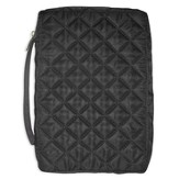 Black Quilted Bible Cover, Large