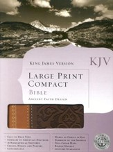 KJV Large Print Compact Ancient Faith Bible, Imitation leather,  brown/tan