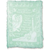 Now I Lay Me Down To Sleep, Tapestry Throw (Mint Green)