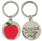 Teacher A Caring Heart Apple Keyring