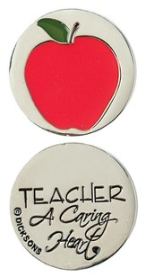 Teacher A Caring Heart Pocket Stone