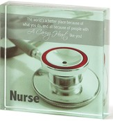 Nurse Glass Plaque
